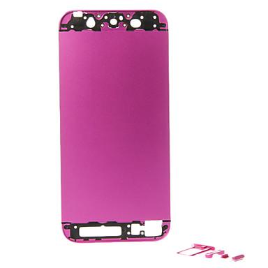 IPhone 5 için Düğmeler Fuşya Metal Alaşım Arka Pil Konut