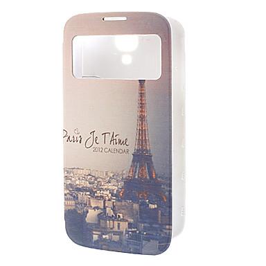 Classic Eiffelov toranj Pattern kožna torbica za Samsung S4