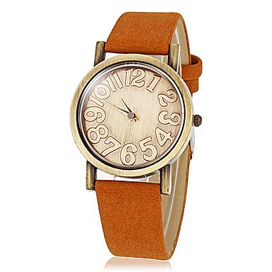 Women's Vintage Round Dial Pu Band Quartz Analog Wrist Watch (Assorted Colors)