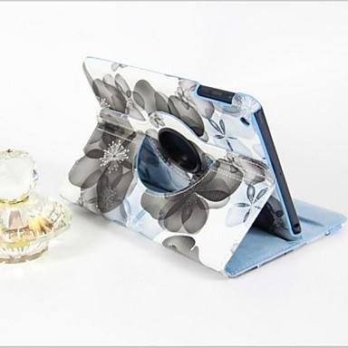 Pouzdro Uyumluluk Apple Satandlı / Oto Uyu / Uyan / 360° Dönüş Tam Kaplama Kılıf Çiçek PU Deri için iPad Mini 3/2/1