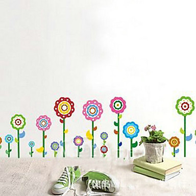 1 adet Renkli Ayçiçeği Duvar Sticker