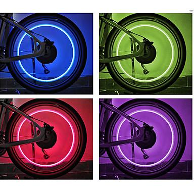 Bisiklet Işıkları tekerlek ışıkları vana kapağı yanıp sönen ışıklar LED Bisiklet hücreli piller Lümen Batarya Bisiklete biniciliği - FJQXZ