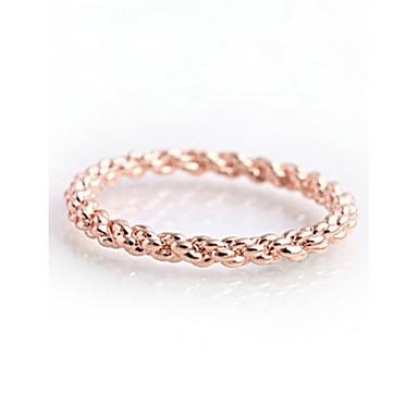 Kadın's Bildiri Yüzüğü - Altın Kaplama Moda 6 / 7 / 8 Uyumluluk Düğün / Parti / Günlük