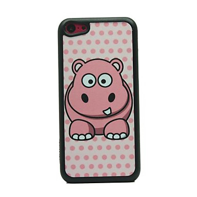 IPhone 5C için cutty Hippo Çizim Desen Hard Case