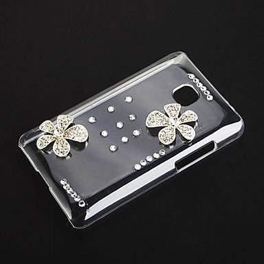 LG Optimus L3 II için Çiçekler Desen Şeffaf Plastik Hard Case Arka Kapak shinning