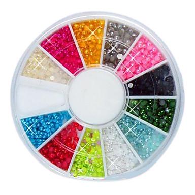 144 pcs Tırnak Takısı tırnak sanatı Manikür pedikür Günlük Soyut / Moda / Plastik / Nail Jewelry