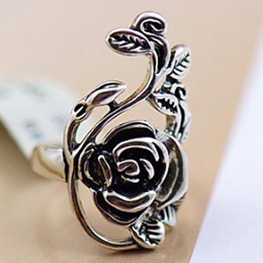 Kadın's Bildiri Yüzüğü - alaşım Güller, Çiçek Kişiselleştirilmiş, Vintage, Wiktoriańskie 8 Uyumluluk Parti / Günlük