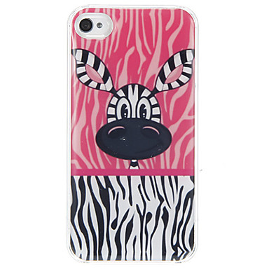 iphone 4 / 4s iphone durumlarda zebra kafa desenli epoksi sert durumda