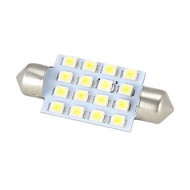 Merdia Festoon 42mm 16 x SMD 3528 LED Beyaz Işık Araç Direksiyon Ampul / Okuma Lambası - (2 ADET)