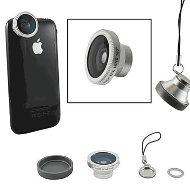 Magnetic 180 Degree Fisheye Lens for iPhone/ iPad and Other Cellphone (Assorted Colors)