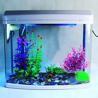 Plástico Vivid água roxo Ornamento Decoração Plantas para Aquário