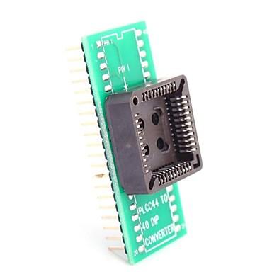 PLCC44 DIP40 için / PLCC44 IC Test Koltuk Modülü Adaptörü DIP40 çevirin