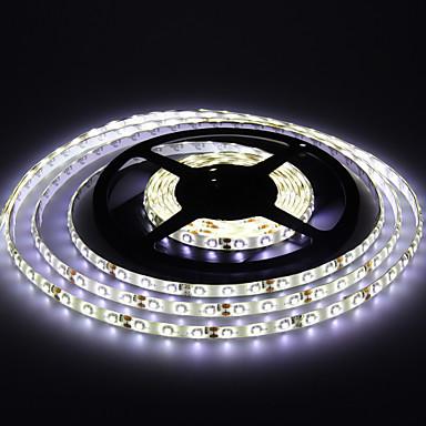 5m Esnek LED Şerit Işıklar 300 LED'ler 3528 SMD Sıcak Beyaz / Beyaz Su Geçirmez 12 V