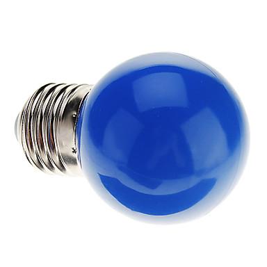0.5 W 30 lm E26 / E27 LED Küre Ampuller G45 7 LED Boncuklar Dip LED Dekorotif Mavi 220-240 V / RoHs