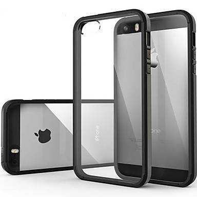 Ultra Transparent Back Cover Case for iPhone 5/5S (Assorted Colors)