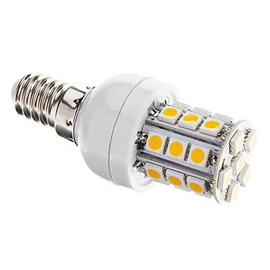 350 lm E14 LED Mısır Işıklar T 27 led SMD 5050 Kısılabilir Sıcak Beyaz AC 220-240V