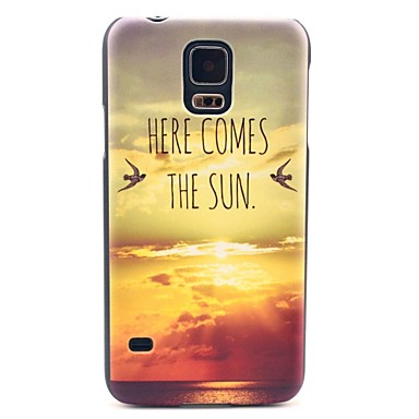 Için Samsung Galaxy Kılıf Temalı Pouzdro Arka Kılıf Pouzdro Manzara PC Samsung S5