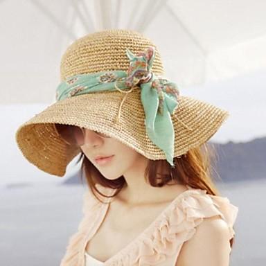 Kadın Moda Kumaş ilmek Plaj Şapka