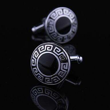 butoni negru si argintiu clasic xinclubna®men lui