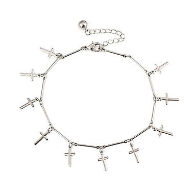 Kadın's Ayak bileziği / Bilezikler alaşım Ayak bileziği Vücut Zinciri / Belly Chain Krzyż Mücevher Uyumluluk Günlük