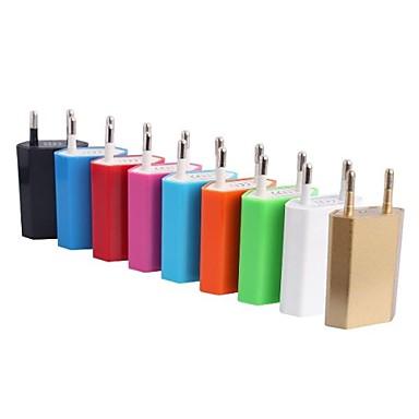 Зарядное устройство для дома Портативное зарядное устройство Телефон USB-зарядное устройство Евро стандарт 1 USB порт 1A AC 100V-240V Для