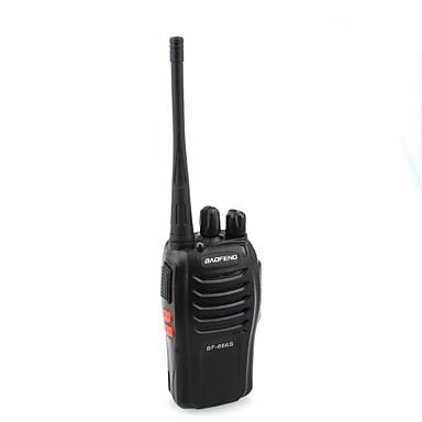 BaoFeng BF-666S 5W 16-Kanal 400-470MHz El walkie talkie / Interkom - Siyah