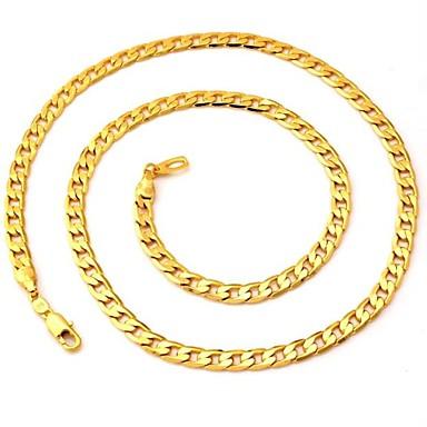 Kadın's Figaro Zinciri / Tıknaz Zincir Kolyeler - Altın Kaplama Moda Kolyeler Mücevher Uyumluluk Düğün, Parti, Günlük