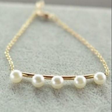 Moda İnci 20cm Kadın Alaşım Charm Bilezik (Altın, Gümüş) (1 Adet)