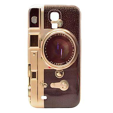 Retro Camera Pattern Plastic Protective Back Cover for Samsung Galaxy S4 I9500