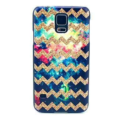 Için Samsung Galaxy Kılıf Temalı Pouzdro Arka Kılıf Pouzdro Çizgiler / Dalgalar PC Samsung S5