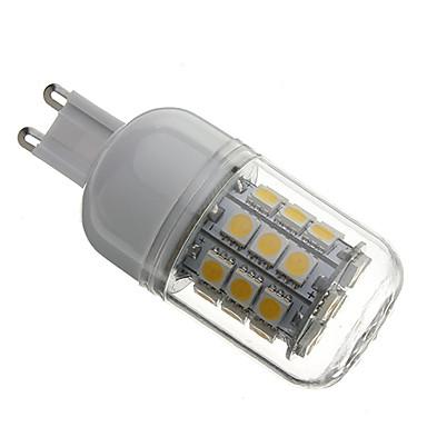 3000lm G9 LED-kolbepærer T 30 LED Perler SMD 5050 Varm hvid 110-130V 220-240V