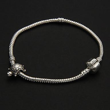 Moda Şekil 8cm Bayan'S Gümüş Gümüş Kaplama Zincir & Link Bilezik () (1 Adet)