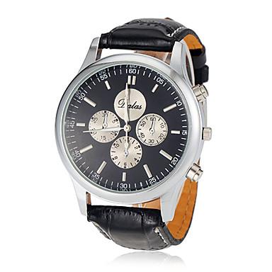 Bărbați Ceas Elegant Aviation Watch Quartz Negru Analog Clasic - Alb Negru / Oțel inoxidabil