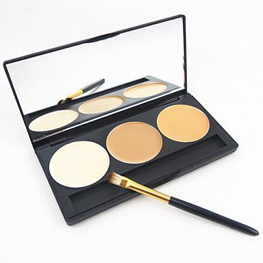 3 Renk Kızarmak Makyaj Fırçaları Makyaj Aynası Kapatıcı Yüz Makyaj Kozmetik