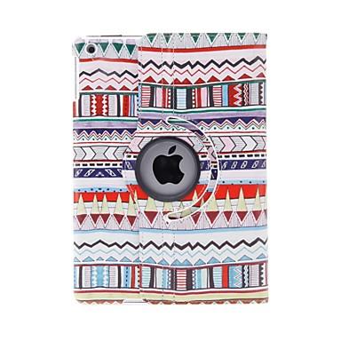 Maska Pentru iPad Air Cu Stand Rotație 360 ° Model Carcasă Telefon Model Geometric PU piele pentru iPad Air