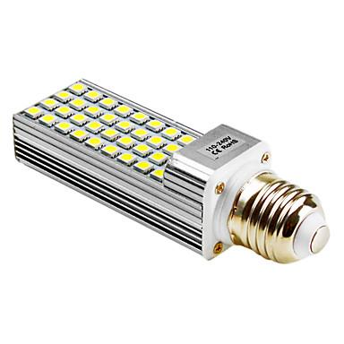 5500 lm G24 E26/E27 LED-lampa T 36 lysdioder SMD 5050 Varmvit Naturlig vit AC 100-240V