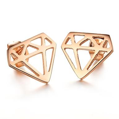 Vidali Küpeler Titanyum Çelik Altın Kaplama Mücevher Için Düğün Parti Günlük