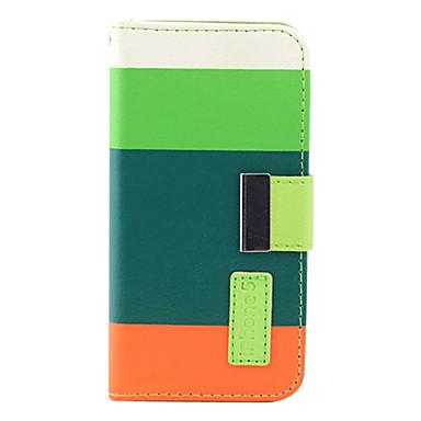PU-nahka kotelo jalustalla ja lompakolla iPhone 5:lle (värivalikoima)