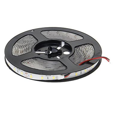 5m Esnek LED Şerit Işıklar 300 LED'ler 5630 SMD Sıcak Beyaz Su Geçirmez / Kesilebilir / Kendinden Yapışkanlı 12 V 1pc / IP65