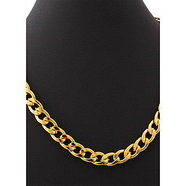 Others Circle Shape Unique Design Fashion Chain Necklace Gold Plated Chain Necklace Wedding Party Gift Daily Casual Sports