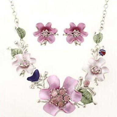 Women's Jewelry Set - Resin, Rhinestone Flower Fashion Include For Wedding / Party / Special Occasion / Earrings / Necklace