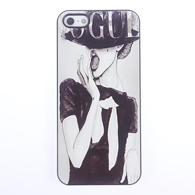 Pouzdro Uyumluluk iPhone 5 / Apple iPhone 5 Kılıf Temalı Arka Kapak Seksi Kadın Sert PC için iPhone SE / 5s / iPhone 5