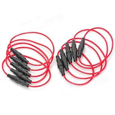 5 x 20mm Fuse Holder base - (vermelho + preto) (10 PCS)
