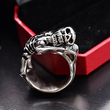Yüzükler Skull shape Günlük Mücevher Titanyum Çelik Evlilik Yüzükleri8 9 10 11 12