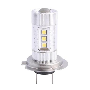 H7 80W 12xLED SMD 680LM 6500K Beyaz Işık Araba Foglight Far (DC12-24V) için LED