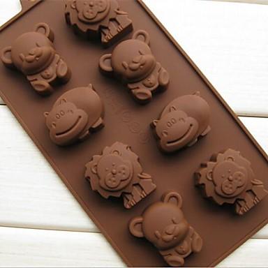 Animal Ciocolatiu Plăcintă Tort Silicon Ecologic Reparații #D coacere Mold
