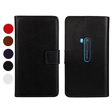 Pentru Carcasă Nokia Portofel / Titluar Card / Cu Stand Maska Corp Plin Maska Culoare solida Greu PU piele Nokia Other