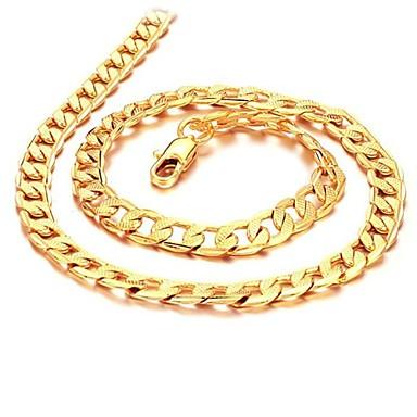 ieftine Coliere-Bărbați Lănțișoare Link cubanez Box lanț Mariner Chain 18K Placat cu Aur Placat Auriu Auriu Coliere Bijuterii Pentru Nuntă Petrecere Zilnic Casual