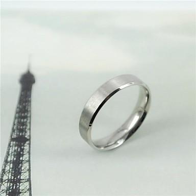 Kadın's Evlilik Yüzükleri Titanyum Çelik Yuvarlak Mücevher Günlük