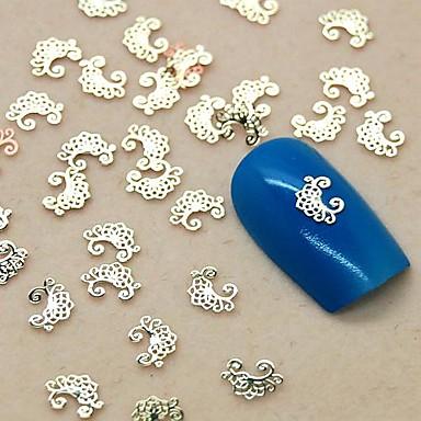 Sevimli tırnak sanatı Manikür pedikür Metal Mevye / Çiçek / Soyut Günlük / Karikatür / Dantel Çıkartması / Nail Jewelry